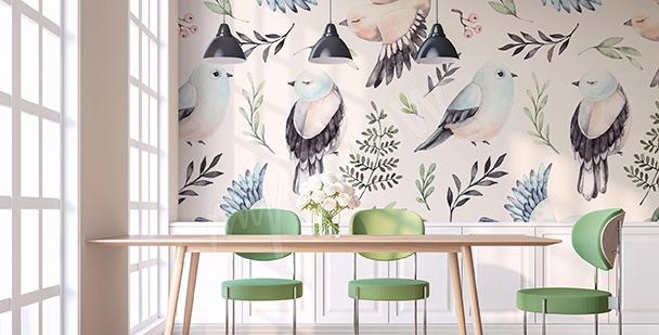 Spring birds mural
