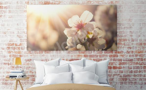 Spring flowers canvas print for bedroom