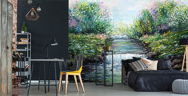 Spring river mural