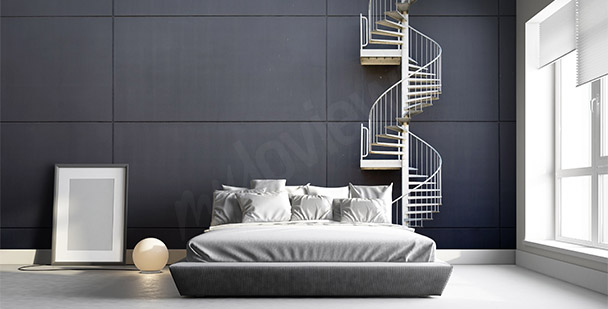Stairs mural for bedroom