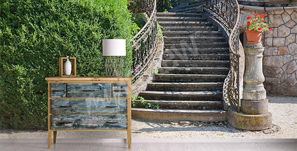 Stairs spatial mural
