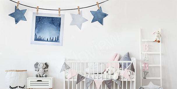 Star garland sticker
