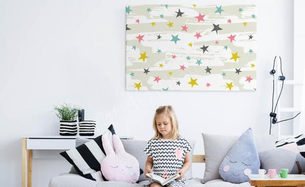 Stars canvas print for children
