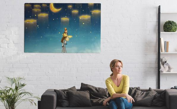 Stars canvas print for the living room