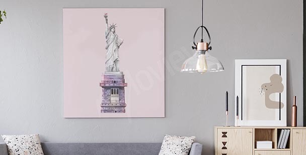 NY colorful skyscrapers canvas print