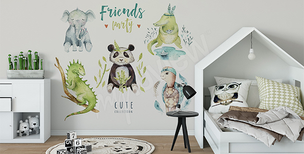 Sticker for boys: animals