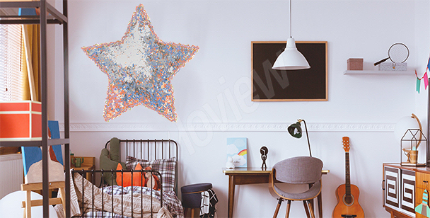 Sticker star for the children's room
