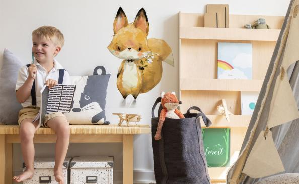 Sticker with fox for a child's room