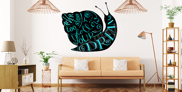 Sticker with quotes - follow your dreams