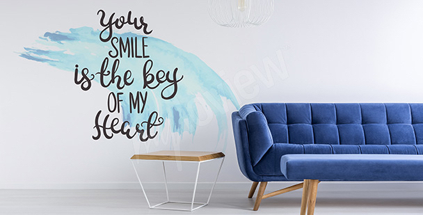 Sticker with quotes - love confession