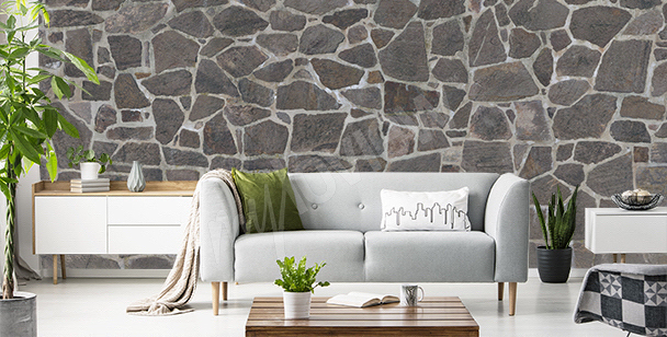Stone texture mural