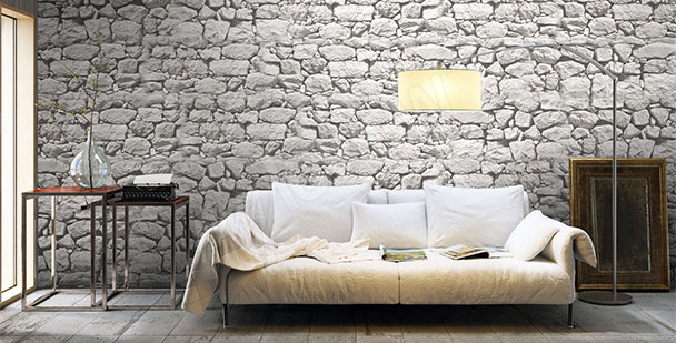 Stone wall mural