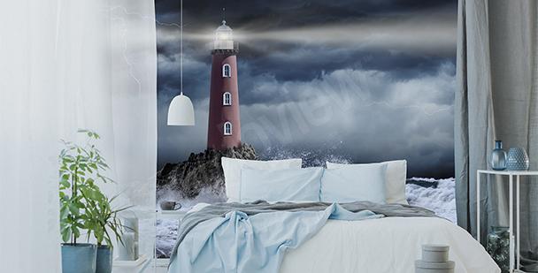 Stormy night mural