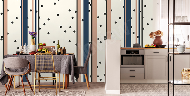 Stripes and dots mural