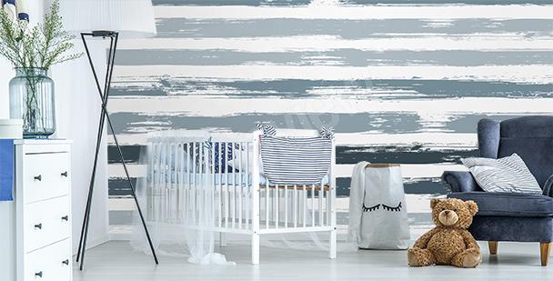 Stripes child's room mural