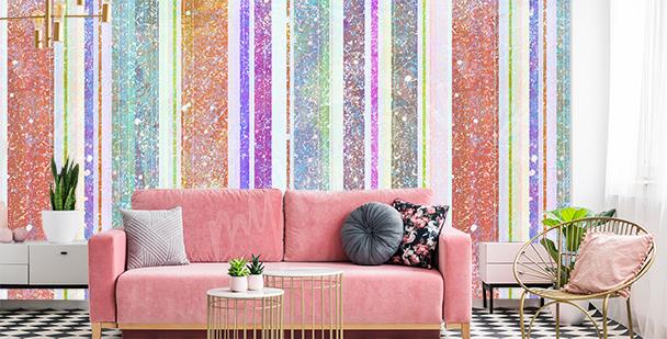 Stripes living room mural
