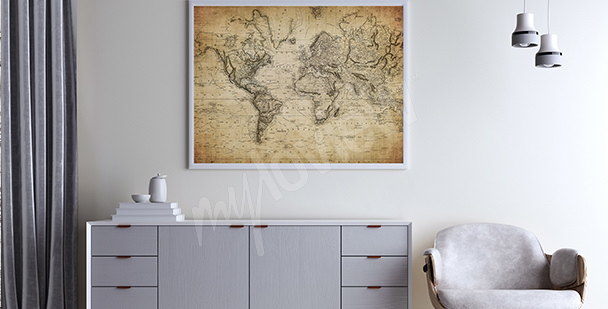 Stylised historical map poster