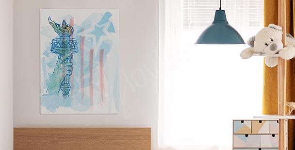 Subtle colours canvas print