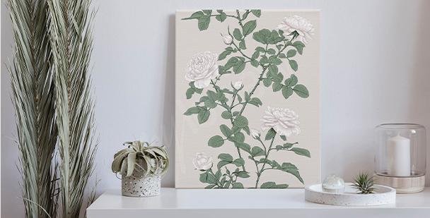 Subtle roses canvas print