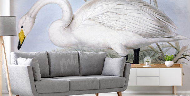 Subtle swan mural