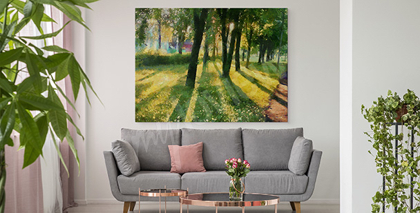 Summer canvas print in green