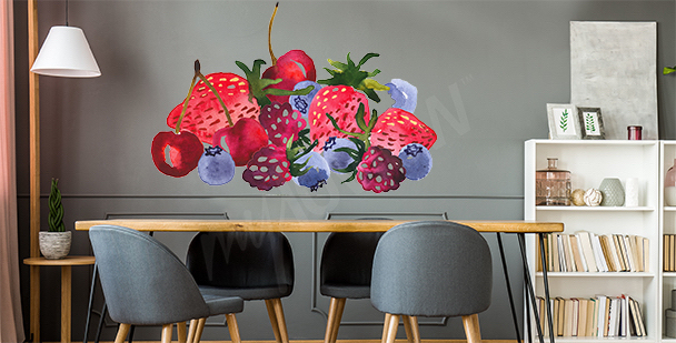 Summer fruit sticker