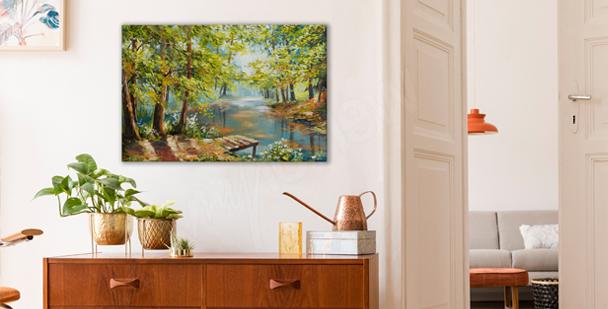 Summer park canvas print