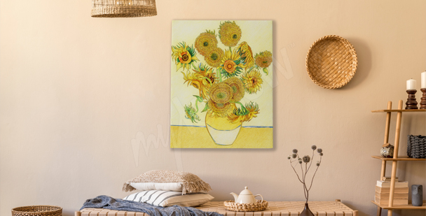 Sunflower sketch canvas print