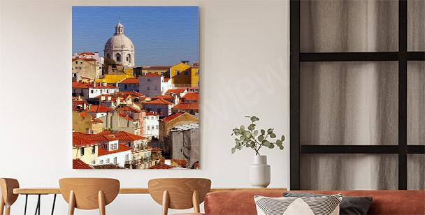 Sunny city canvas print