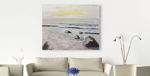 Sunset canvas print for living room