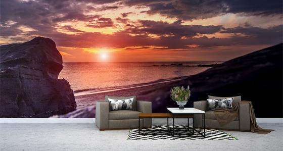 How to keep summer in our apartment? Beach murals for walls