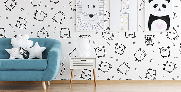 Teddy bears wall mural