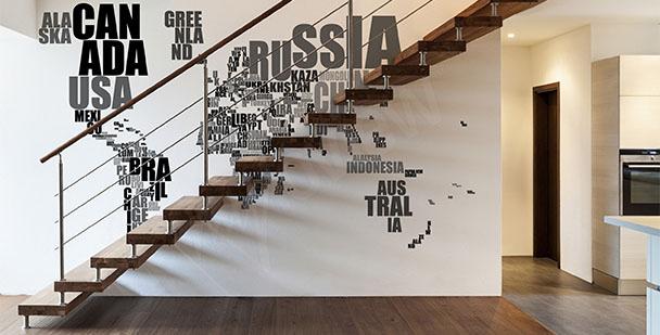 Text map mural