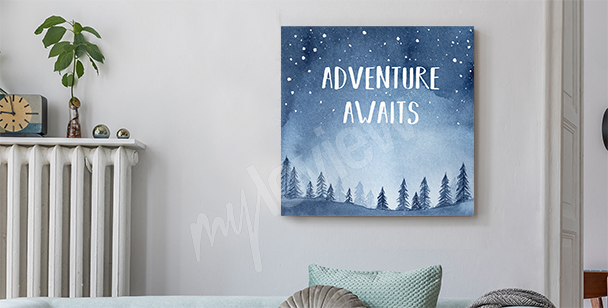 Thirst for adventure canvas print