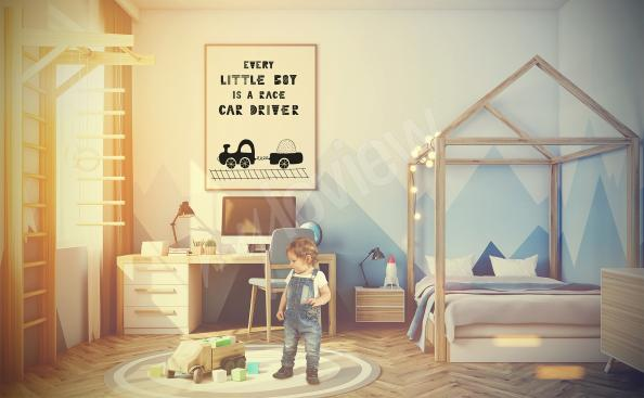 Train poster for a boy's room