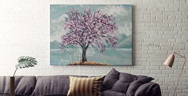 Tree canvas print for living room