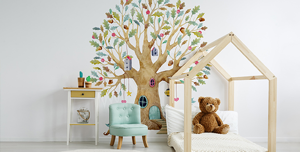 Tree mural for a child's room