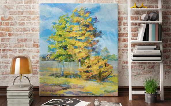 Tree on the meadow canvas print