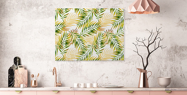 Tropical canvas print for the kitchen