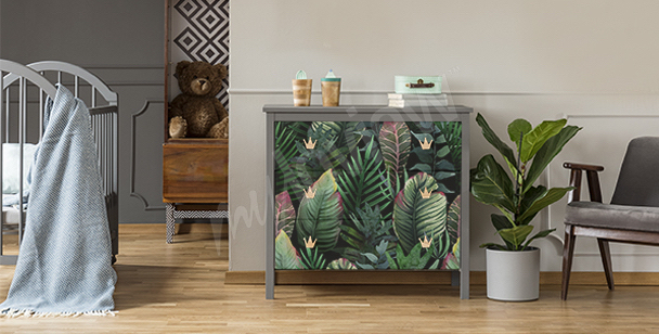 Tropical dresser sticker