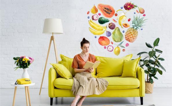 Tropical fruit sticker