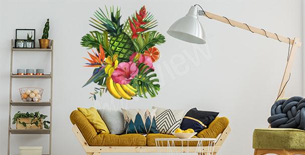 Tropical living room sticker