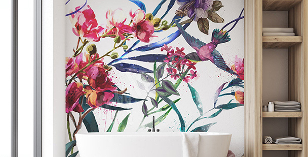 Tropical thicket mural