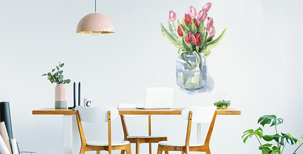 Tulips in a vase sticker