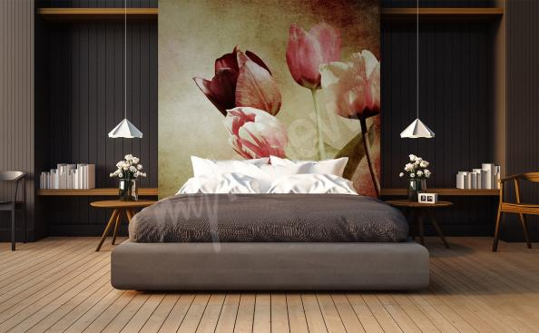 Tulips mural for bedroom