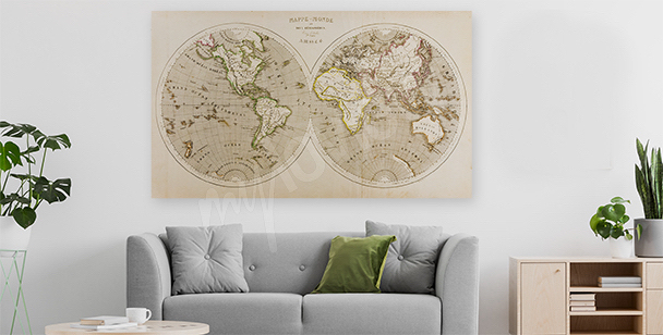 Two hemispheres canvas print
