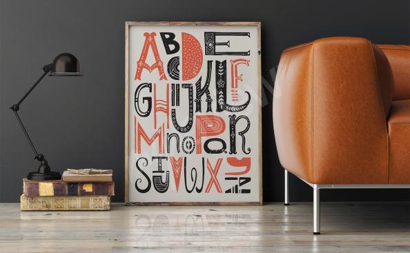 Typographic alphabet poster