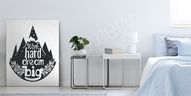 Typographic forest poster