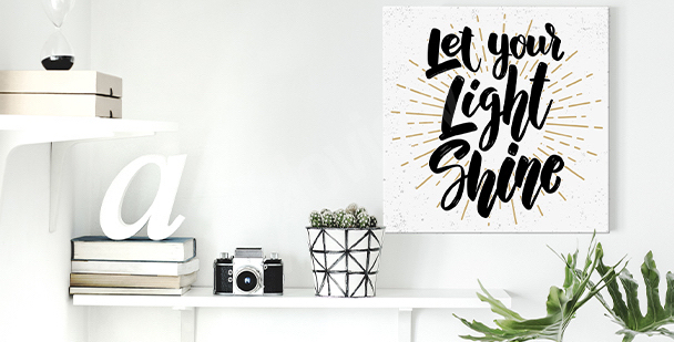 Typographic motivation canvas print