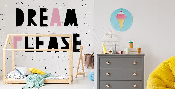 Typographic mural for children